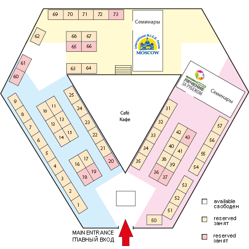 Stand Plan of Moscow International MICE Forum